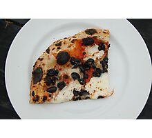A Slice of Black Olive Pizza Photographic Print