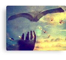 Flying book Canvas Print