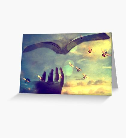 Flying book Greeting Card