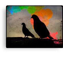 Pigeon Silhoutte Canvas Print