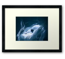 In an ice cave inside Franz Josef Glacer - New Zealand Framed Print