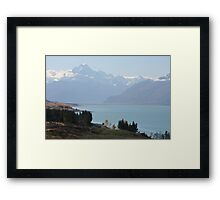 Mount Cook and Lake Pukaki - New Zealand Framed Print