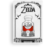 Zelda legend Red potion Canvas Print