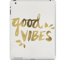 Good Vibes - Gold Ink iPad Case/Skin
