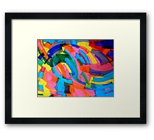 untitled (Blue and Yellow) Framed Print