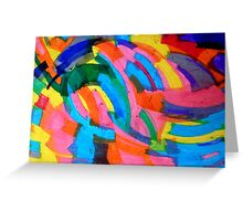 untitled (Blue and Yellow) Greeting Card