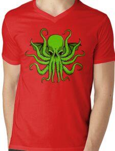 Mad God Cthulhu Mens V-Neck T-Shirt
