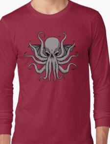 Grey Chtulhu Long Sleeve T-Shirt