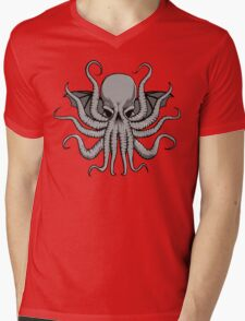 Grey Chtulhu Mens V-Neck T-Shirt