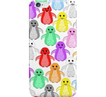 Rainbow penguins iPhone Case/Skin