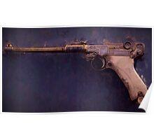 Artillery Luger Presentation Drip Poster