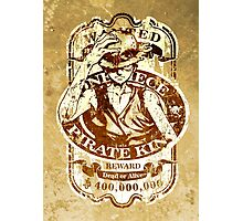 Wanted Pirate King Photographic Print