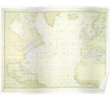 Kriegsmarine Atlantic Map Poster