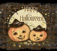 Halloween Vintage Pumpkins by Jamie Wogan Edwards