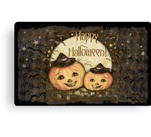 Halloween Vintage Pumpkins Canvas Print
