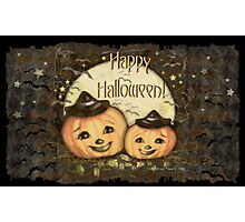 Halloween Vintage Pumpkins Photographic Print