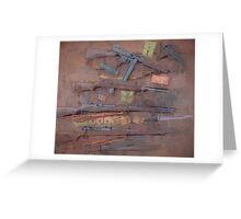 WW2 American Small Arms Drip Greeting Card