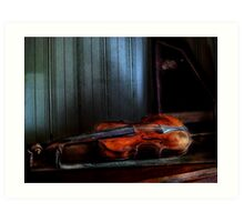 Final Stage For The One String Violin Art Print