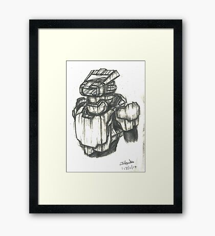 Guardian Armour System - Exclusive to the Colossus Scout Program (CSP) Framed Print