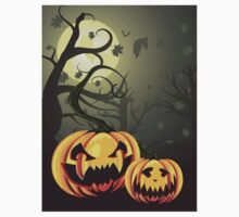 Scary Pumpkins in Forest Baby Tee