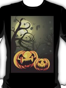 Scary Pumpkins in Forest T-Shirt