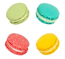 Rainbow Macarons Photographic Print