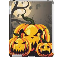 Scary Pumpkins in Forest 2 iPad Case/Skin