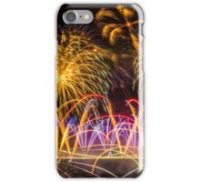 Fireworks on Clifton Suspension Bridge, Bristol iPhone Case/Skin