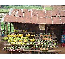 Ugandan Fruit Stall Photographic Print