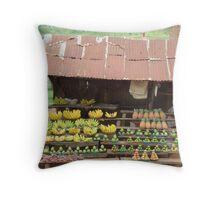 Ugandan Fruit Stall Throw Pillow