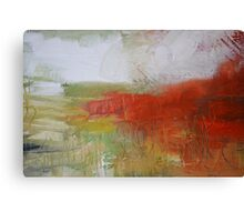 Red White Abstract Painting  Canvas Print