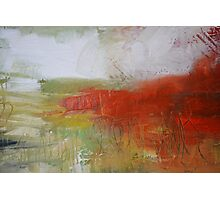 Red White Abstract Painting  Photographic Print