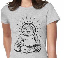 Sunburst Happy Buddha Womens Fitted T-Shirt