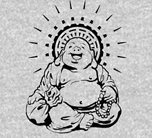 Sunburst Happy Buddha Womens Fitted T-Shirt