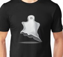 White Halloween ghost  Unisex T-Shirt