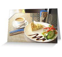 Coffee & Salad Greeting Card