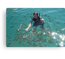 Fresh bait!! Canvas Print