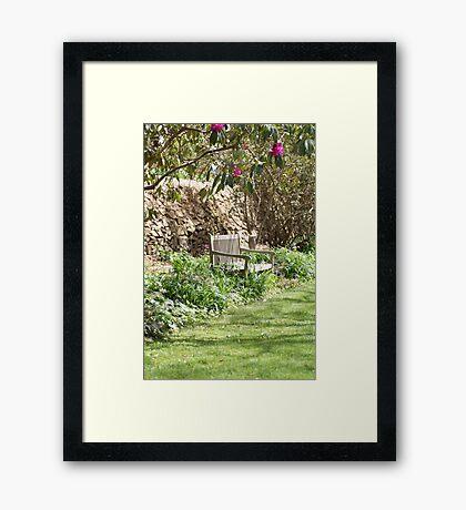 Seat Framed Print