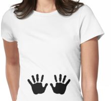 Baby hands Womens Fitted T-Shirt
