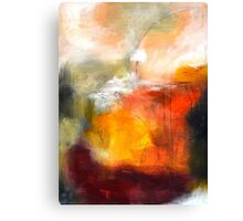Abstract Orange Red Black Print from Original Painting Canvas Print