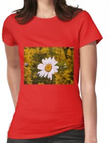 Chamomiles in the garden Womens Fitted T-Shirt
