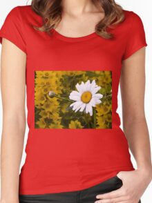 Chamomiles in the garden 3 Women's Fitted Scoop T-Shirt