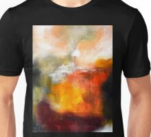 Abstract Orange Red Black Print from Original Painting Unisex T-Shirt