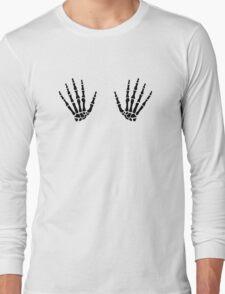 Skeleton hands finger Long Sleeve T-Shirt