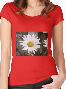 Chamomiles in the garden 4 Women's Fitted Scoop T-Shirt