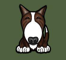 Brown Patch English Bull Terrier by Sookiesooker