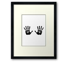 Hands handprints Framed Print