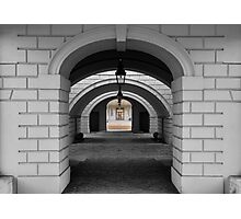 Colonnade B&W Photographic Print