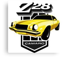 Yellow Camaro 77 Canvas Print