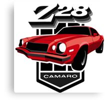 Red Camaro 77 Canvas Print